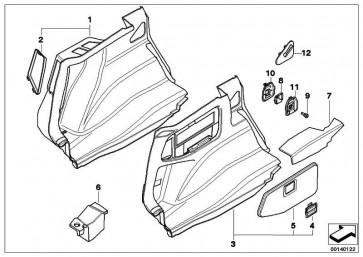 Griff Seitenverkleidung Gepäckraum  1er 3er X1  (51477124457)