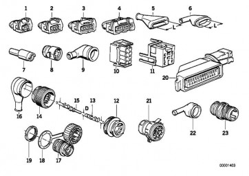 Steckergehäuse Kabelbaum Motor 25-POL 5er 7er Z3  (61131387108)