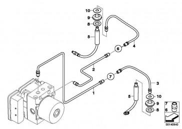 Rohrleitung M12/M12         5er 6er  (34322283833)