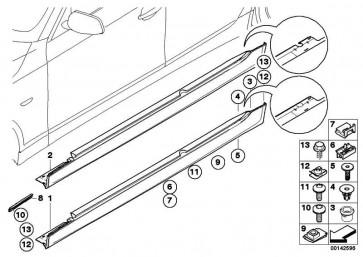 Abdeckung Schweller grundiert rechts M               5er  (51777907180)