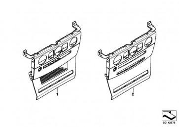 Blende Instrumententafel mitte SCHWARZ         5er  (51167906374)