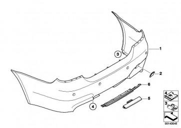 Verkleidung Stossfänger grundiert hinten M               5er  (51127898157)