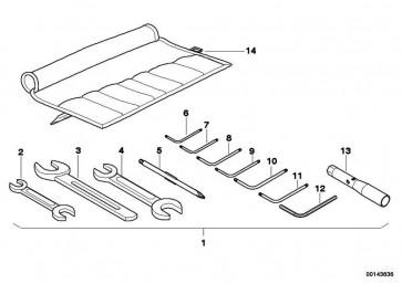 Gabelschlüssel SW24 K14 R13 R E169 R50/5-R90S   (71117665489)