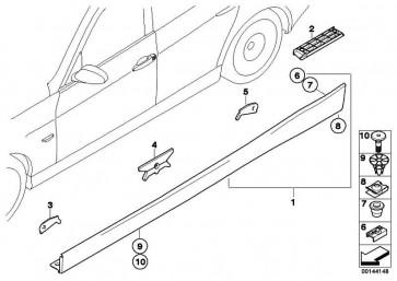Schwellerleiste lackiert links CODE - UNI/MET. 3er  (51770037229)