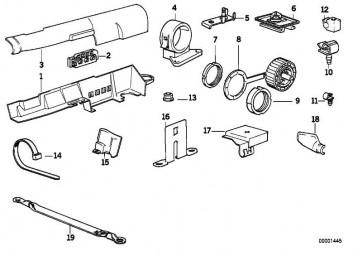 Halter Steckverbindung weiss  1er 2er 3er 5er 6er 7er X1 X3 X4 X5 X6 Z3 Z4 Z8 MINI  (61131378997)