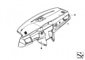 Verkleidung Instrumententafel Leder INDIVIDUAL      5er  (51458027473)