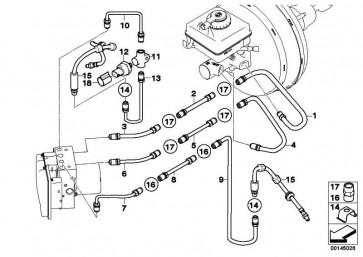 Rohrleitung M12/M12-1076MM  5er 6er  (34326767803)