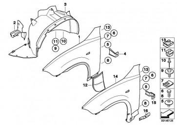 Abdeckung Radhaus links Zusatzkühler  X3  (51713420416)