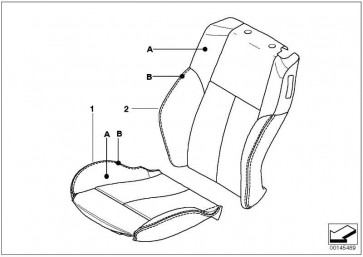 Bezug Sitz Leder links INDIVIDUAL      6er  (52108031081)