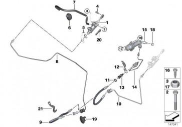 Rohrleitung mit Druckschlauch  3er 1er X1  (21526864475)