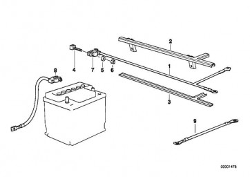 Batteriekabel minus  3er Z3  (12422245473)