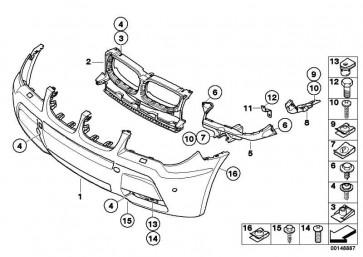 Verkleidung Stossfänger grundiert vorn M               X3  (51113415400)