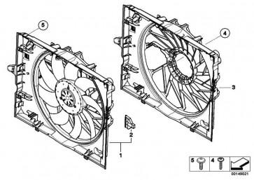 Lüfterzarge mit Lüfter 600W            5er 6er  (17427534911)