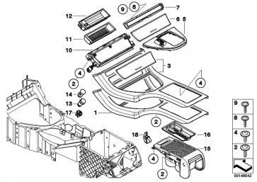 Einsatz Mittenkonsole Mitte  X5  (51168408026)