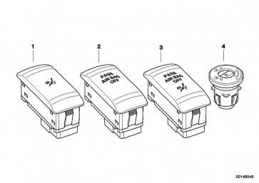 Schalter Deaktivierung Beifahrerairbag  1er 2er 3er 4er 5er 6er 7er X1 X3 X4 X5 X6 Z4 MINI  (61319326501)