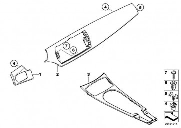 Blende Mittelkonsole Aluminium ALUMINIUM       Z4  (51167069726)
