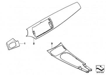 Blende Mittelkonsole Holz Pappel MASER HELL      Z4  (51167162362)