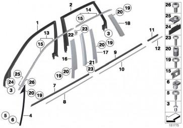 Linsenschraube mit Bund M5X20MM         X5 X6  (07147073527)