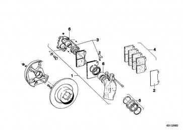 Bremssattel ohne Belag links 2 KREIS           (34111101843)