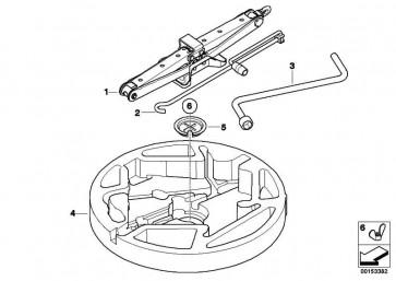 Kurbel Radschraube Schlüsselweite 17  X5 X6  (71126788617)