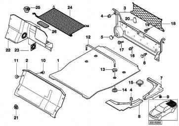 Verschlusstopfen Verkleidung Gepäckraum SCHWARZ         7er  (51478165200)