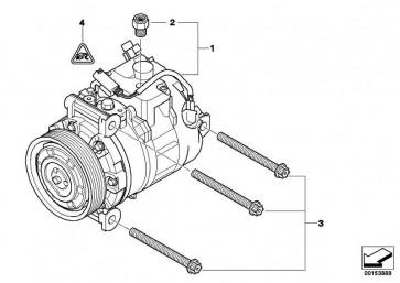 Klimakompressor  1er 3er X1  (64529122618)