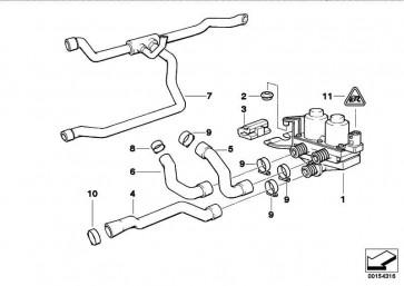 Schlauch Motorvorlauf-Heizkörper  3er  (64218391240)