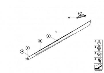 Schwellerleiste rechts lackiert CODE - UNI/MET. 3er  (51710031231)