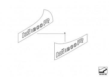 Schriftzug R1200R rechts TITANSILBER     K27  (51147703550)