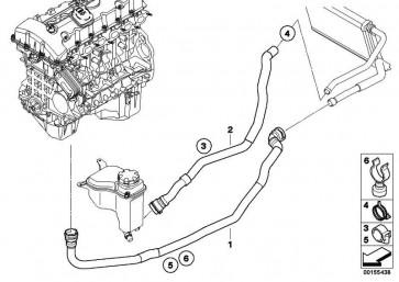 Schlauch Motorvorlauf-Heizkörper  1er 3er X1  (64219178427)