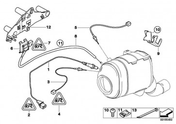 Sensor Abgasdruck  3er 5er 6er X3 X5 X6  (13627804862)