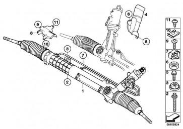 Wärmeschutzblech Lenkgetriebe  1er 3er X1  (32106763728)