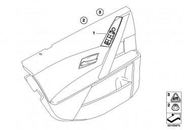Schalter Fensterheber Fahrerseite BEIGE           5er  (61316951905)