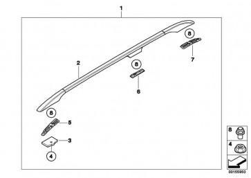 Dachreling links SCHWARZ MATT    5er  (51138193027)