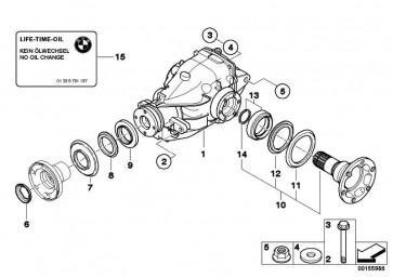 Austausch Hinterachsgetriebe I=3,64          Z4  (33107575044)