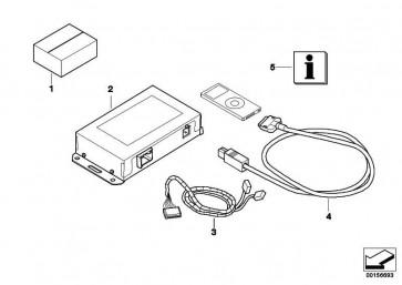 Nachrüstsatz iPod-Anschluss  1er 3er 5er 6er 7er X1 X5 X6 Z4  (65412160342)