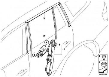Fensterheber ohne Motor hinten links  X3  (51353448251)