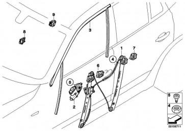 Fensterheber ohne Motor vorne rechts  X3  (51333448250)