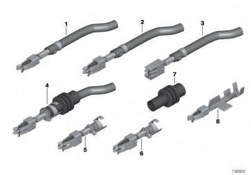 Doppelflachfederkontakt MDK3 mit Kabel 0,5-1,0 MM² AG (61130070586)