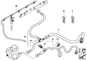 Kraftstoffrücklaufleitung  5er 7er  (13537796798)