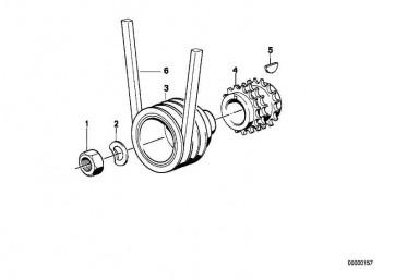 Scheibenfeder 4X6,5            3er 5er M1  (07119951461)