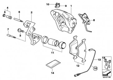 Clip Bremsbelagfühler  1er 3er X1 X3 Z4 MINI  (34356779356)