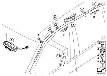Seitenairbag Sitz vorne rechts  X5 X6  (52107161064)
