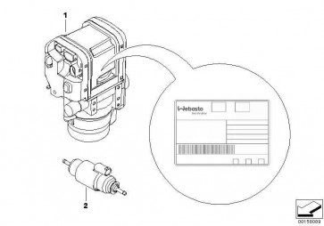 Standheizgerät Benzin  1er 3er X1  (64122184292)