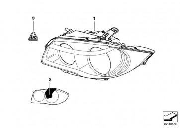 Scheinwerfer Bi-Xenonlicht rechts  1er  (63117159302)