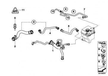 Kühlmittelschlauch  X5  (17127526857)