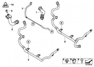 Schlauch Motor Vorlauf-Kühler oben  1er 3er X1 Z4  (17127531579)