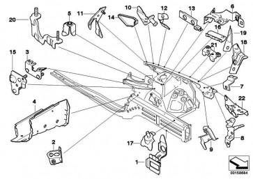 Halter Diagonalstrebe Motorträger links  3er 1er  (41117174995)