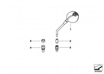 Rückspiegel oval CHROM            (71607699091)