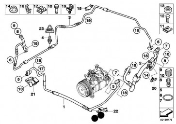 Druckleitung Kondensator-Verdampfer  1er 3er X1  (64539151734)